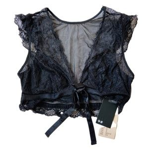 H & M intimates mesh/lace lingerie bra crop top